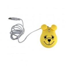 Mouse Optico Urso Amarelo