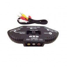 Chaveador RCA Áudio e Vídeo Para Playstation
